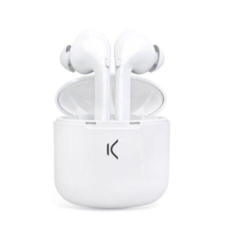 Casti Bluetooth Ksix True Pods True Wireless BT 5.0 Alb