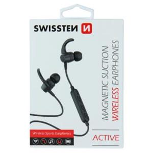 Casti Bluetooth Swissten Active Wireless BT 4.2 Negru