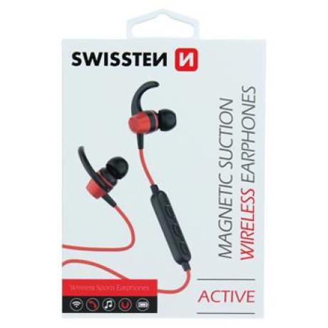 Casti Bluetooth Swissten Active Wireless BT 4.2 Rosu