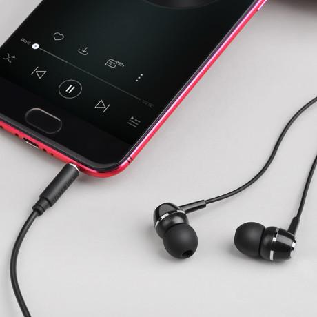 Casti Borofone cu Microfon -  BM36 Acura Jack 3.5mm 1.2m Negru