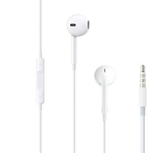 Casti cu Fir Apple Microfon Output Jack 3.5mm Alb