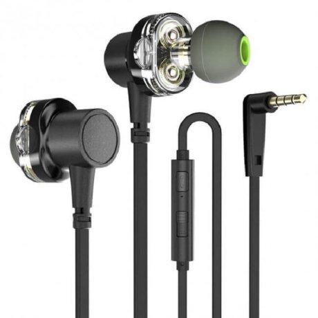 Casti cu Fir Awei Microfon Jack 3.5mm Negru