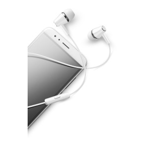 Casti cu Fir Cellularline AUINEARW Microfon Jack 3.5mm Alb