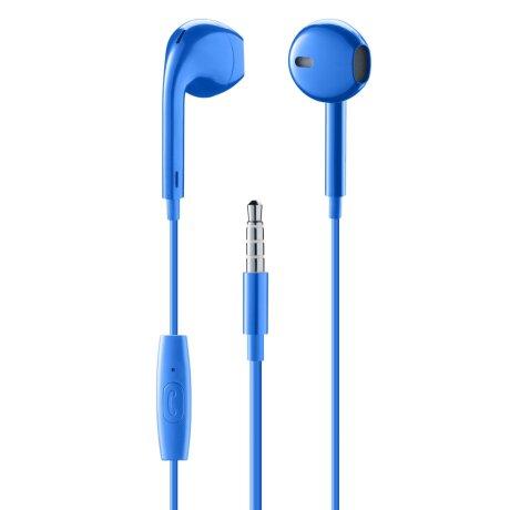 Casti cu Fir Cellularline Capsule Microfon Jack 3.5mm Albastru