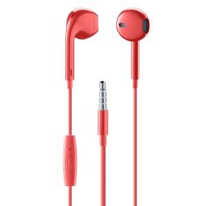 Casti cu Fir Cellularline Capsule Microfon Jack 3.5mm Rosu