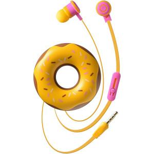 Casti cu Fir Cellularline Cute&Sweet Donut Microfon Jack 3.5mm