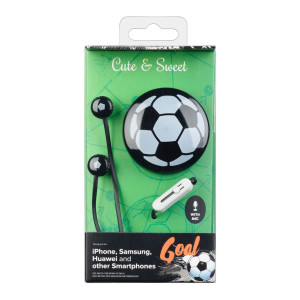 Casti cu Fir Cellularline Cute&Sweet Goal Microfon Jack 3.5mm