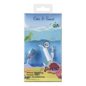 Casti cu Fir Cellularline Cute&Sweet Sirencat Microfon Jack 3.5mm