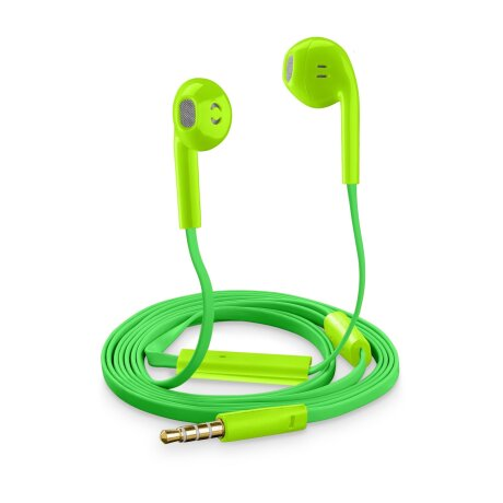 Casti cu Fir Cellularline SLUGSMARTG Microfon Jack 3.5mm Verde