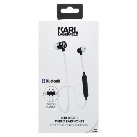 Casti Stereo Bluetooth Karl Lagerfeld Bluetooth CGBTE07 Alb