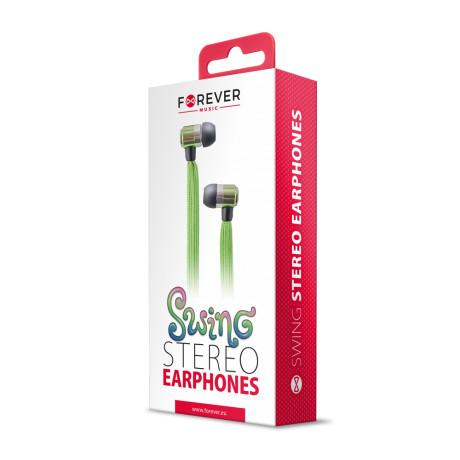 Casti tip siret in-ear Swing Forever, jack 3.5mm, Verde
