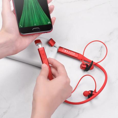 Casti Wireless Hoco S18 Glamor Sports BT 4.2 cu Port de Incarcare Micro Usb Rosu