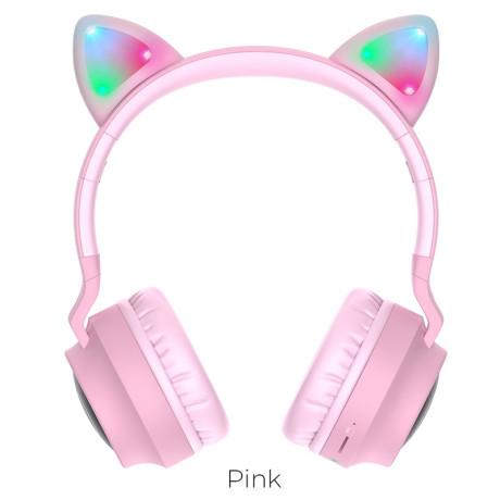 Casti Wireless Hoco W27 Cat Ear BT 5.0 Gri