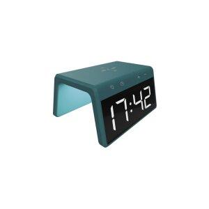 Ceas cu Alarma Ksix cu Incarcare Rapida Wireless 7.5W-10W Verde