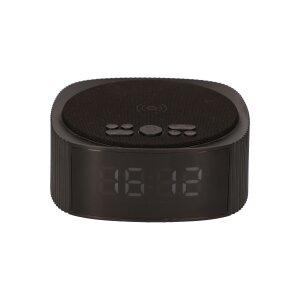 Ceas cu Alarma Ksix cu Incarcare Rapida Wireless 10W si Boxa Bluetooth Negru