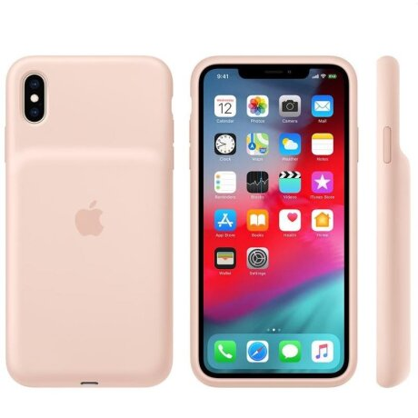 Husa Cover Silicone Apple Smart Battery pentru iPhone X/XS Pink Sand