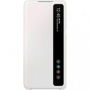 Clone Husa Flip Clear View Samsung pentru Samsung Galaxy S20 FE White