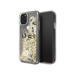 Husa Karl Lagerfeld Liquid Glitter pentru iPhone 11 Pro, Auriu