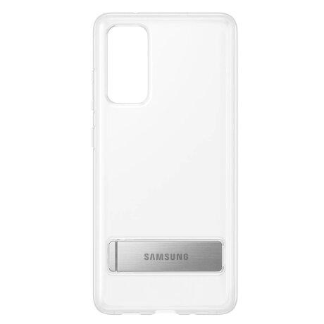 Husa Cover Hard Standing Cover pentru Samsung Galaxy S20 FE, Clear
