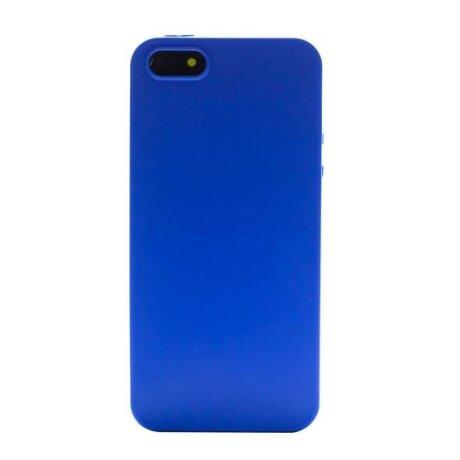 Husa Silicon Slim iPhone 5/5S Albastru Mat