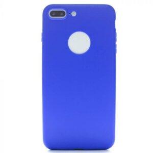 Husa Silicon Slim pentru iPhone 7/8 Plus Albastru Mat