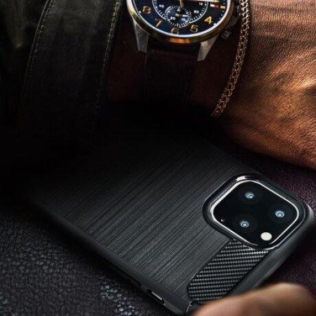 Husa Silicon Slim Samsung Galaxy A51, Negru Carbon