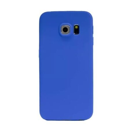 Husa silicon slim Samsung Galaxy S6 Edge Albastru Mat