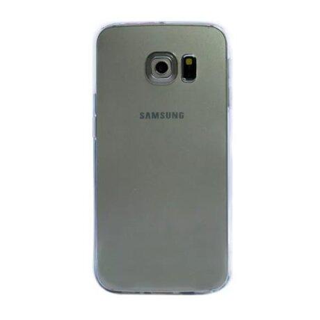 Husa silicon slim Samsung Galaxy S6 Edge Transparent
