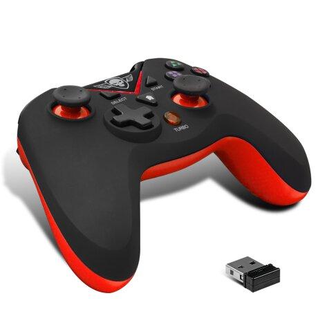 Controller Gaming Spirit of Gamer XGP pentru PS3 Wireless cu 12 Butoane Rosu