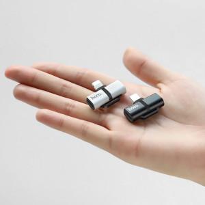 Convertor audio lightning Argintiu LS20 Hoco