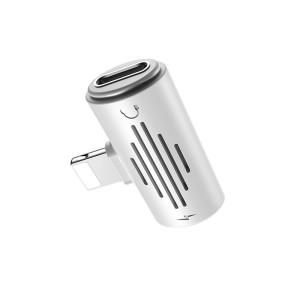Convertor Audio Lightning Borofone BV6 Incarcare 2A Alb