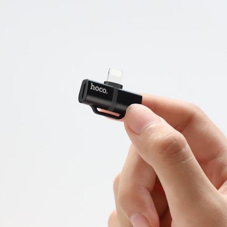 Convertor audio lightning Negru LS20 Hoco