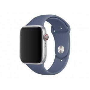 Curea Apple Silicon Sport pentru iWATCH 44 mm  Blue