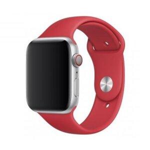Curea Apple Sport Silicon pentru iWATCH 44MM Red