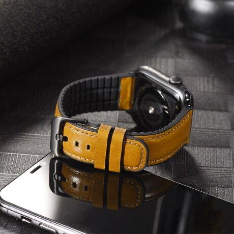 Curea Apple Watch Hoco WB18 Fenix Piele 38/40mm Kaki