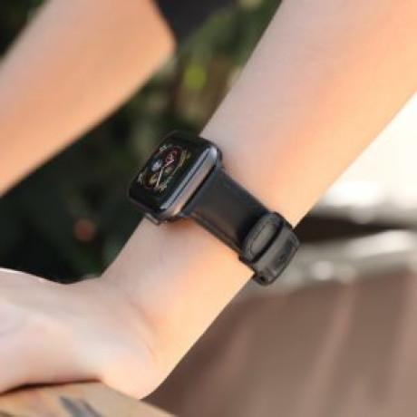 Curea Apple Watch Hoco WB18 Fenix Piele 38/40mm Negru