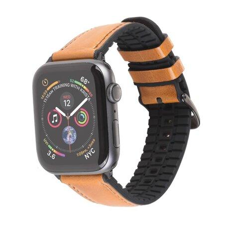 Curea Apple Watch Hoco WB18 Fenix Piele 42/44mm Kaki