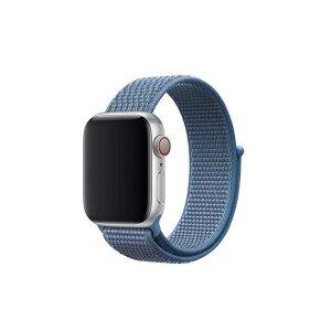 Curea Tactical Cloth pentru Apple IWatch 1/2/3/4/5/6/SE 38/40mm Albastru