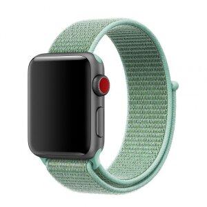 Curea Tactical Cloth pentru Apple IWatch 1/2/3/4/5/6/SE 42/44mm Verde