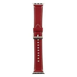 Curea Tactical Leather pentru Apple IWatch 1/2/3/4/5/6/SE 38/40mm Rosu