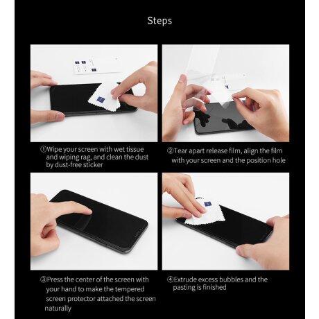 Folie sticla 2.5D pentru Samsung Galaxy A80 Negru
