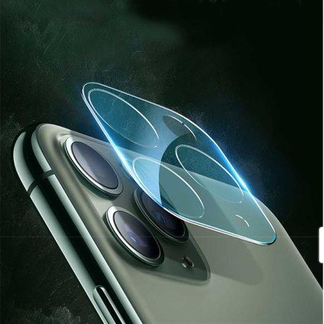 Folie Sticla 3D Camera Foto iPhone 11 Auriu Hoco