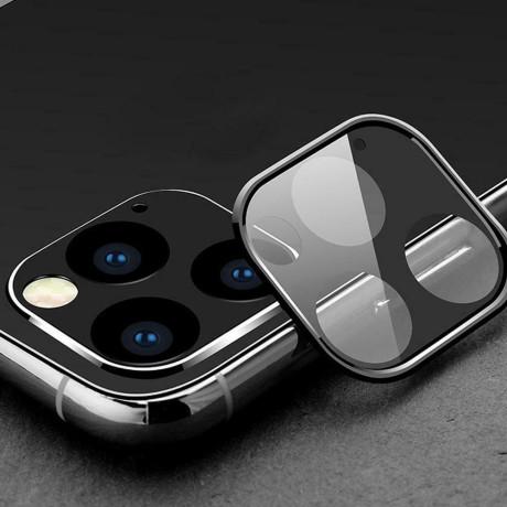 Folie Sticla 3D Camera Foto iPhone 11 Negru Hoco