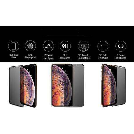 Folie sticla 3D iPhone 6/ 7/ 8, Vipo Neagra
