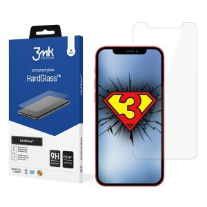 Folie Sticla 3MK HardGlass pentru iPhone 12 Mini Negru