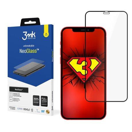 Folie Sticla 3MK NeoGlass pentru iPhone 12/12 Pro Negru