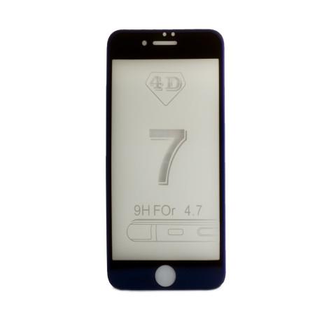 Folie sticla 4D iPhone 7/8/SE 2 Contakt, Shining Albastra