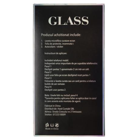 Folie sticla 5D Huawei P30 Lite, Negru Full Glue