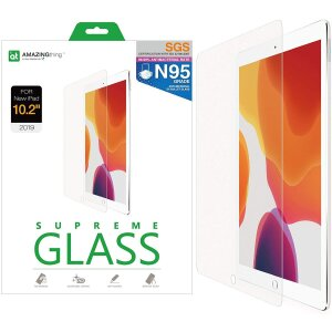 Folie Sticla AmazingThing Supreme Antimicrobial pentru iPad 10.2 Inch Transparent
