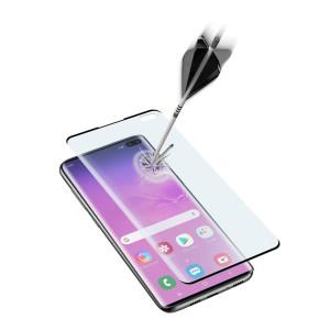 Folie Sticla Cellularline Anti-Shock pentru Samsung Galaxy S10 Plus Negru